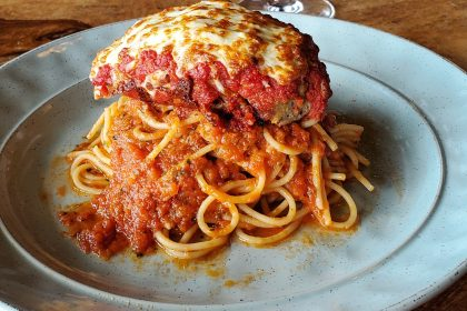 Spaghettini and Meatball