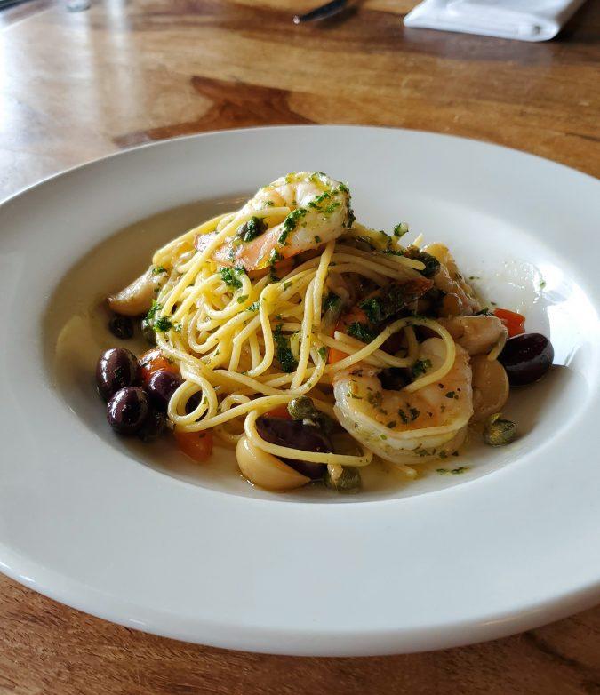Spaghettini with Shrimp